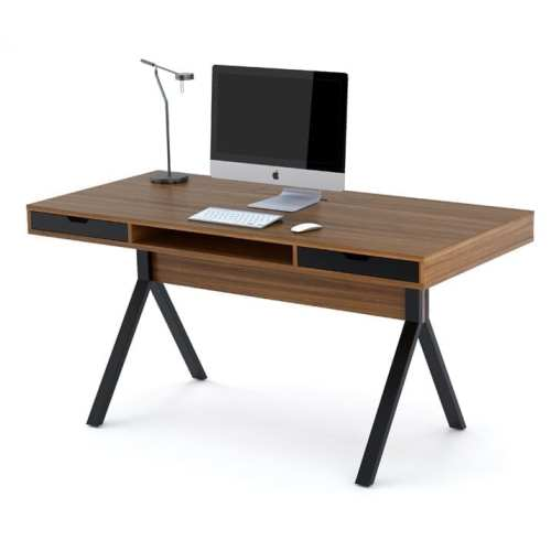 Modica Modern Desk 6341 Natural Walnut