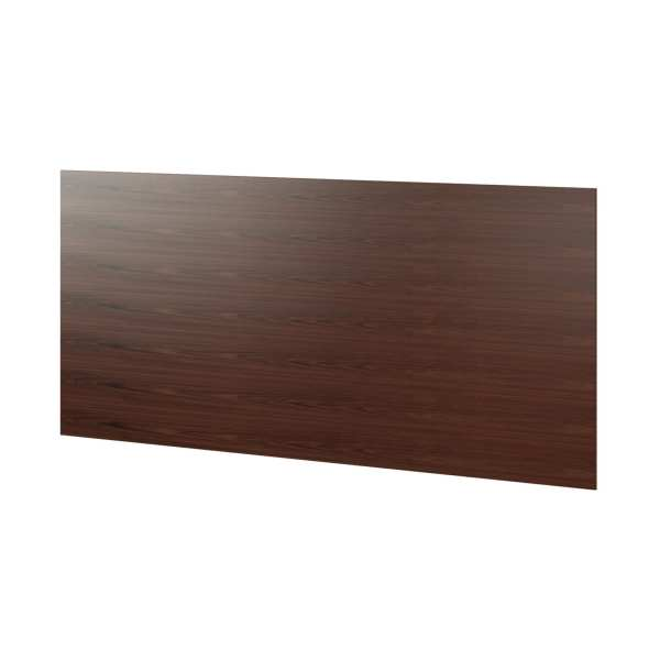 Sequel 6108 Compact Desk Magnetic Back Panel Chocolate Stained Walnut