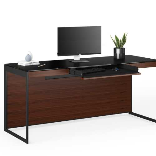 Sequel 20 6101 Desk Black / Chocolate Walnut 1