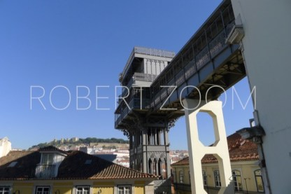 Starting at the lower part of Lisbon, the antique Santa Justa lift connects passengers directly with the higher part of town.