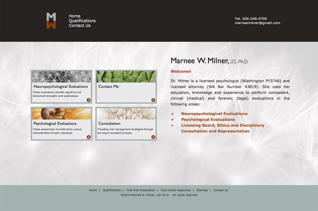 Marnee Milner website - Index