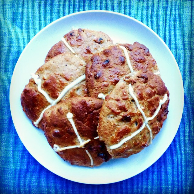 Wheat-free hot cross buns and the benefits of rye flour