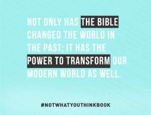 the bible has the power to transform