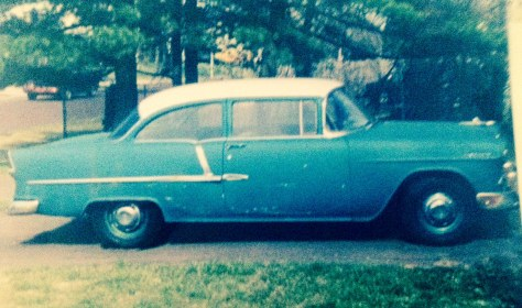 My mom's old '55 Chevy.
