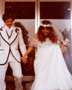 My wedding day, June 9, 1979.