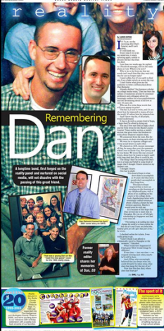 Cover story from the BCCT reality section, Aug. 27, 2015 tribute to Dan Reimold.