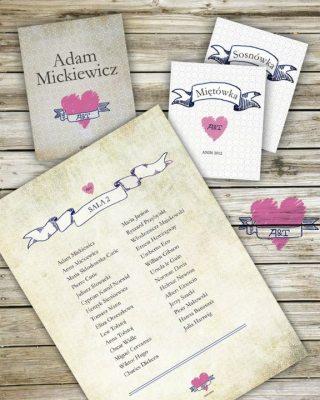 Zestaw poligrafii ślubnej - Robimy Śluby