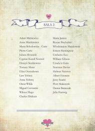 Mapa sali - poligrafia ślubna - Robimy Śluby