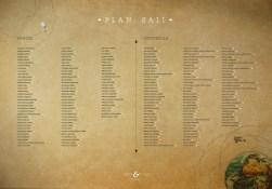 Plan/mapa sali - poligrafia ślubna - Robimy Śluby