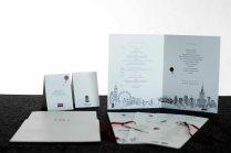 Indywidualna poligrafia ślubna wykonana w stylistyce zaproszeń