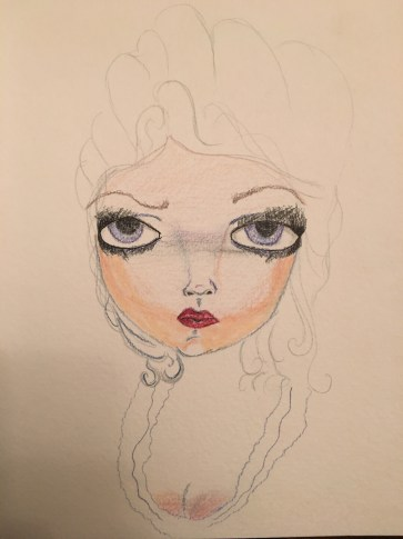 Lady watercolor 1