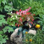 """I want to be tiny in my garden, sitting on the rocks,"" Robin Botie's friend in Ithaca, New York had told her. So she photoshopped her tiny, in her garden."
