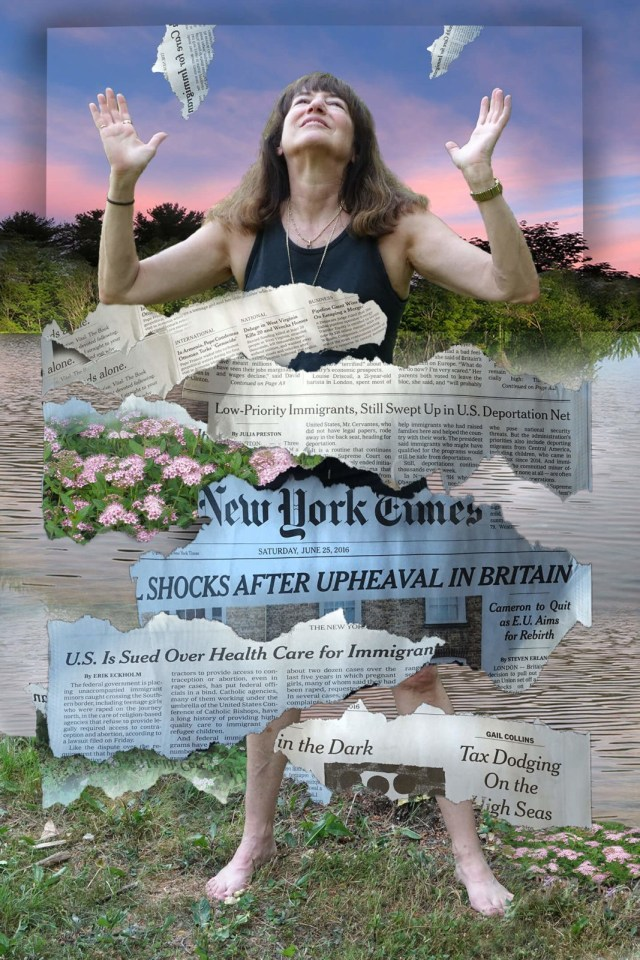 Robin Botie of Ithaca, New York, takes time out from gardening to photoshop headlines of global changes.