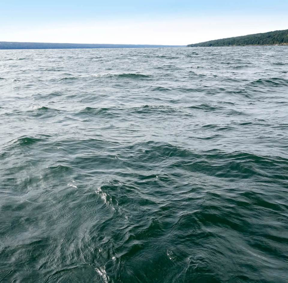 Robin Botie of Ithaca, New York, is in a small boat photographing Cayuga Lake and thinking of the flooding in Texas and the people who lost everything.