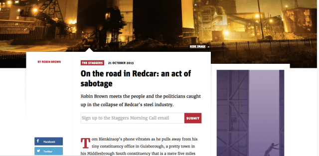 new statesman road to redcar