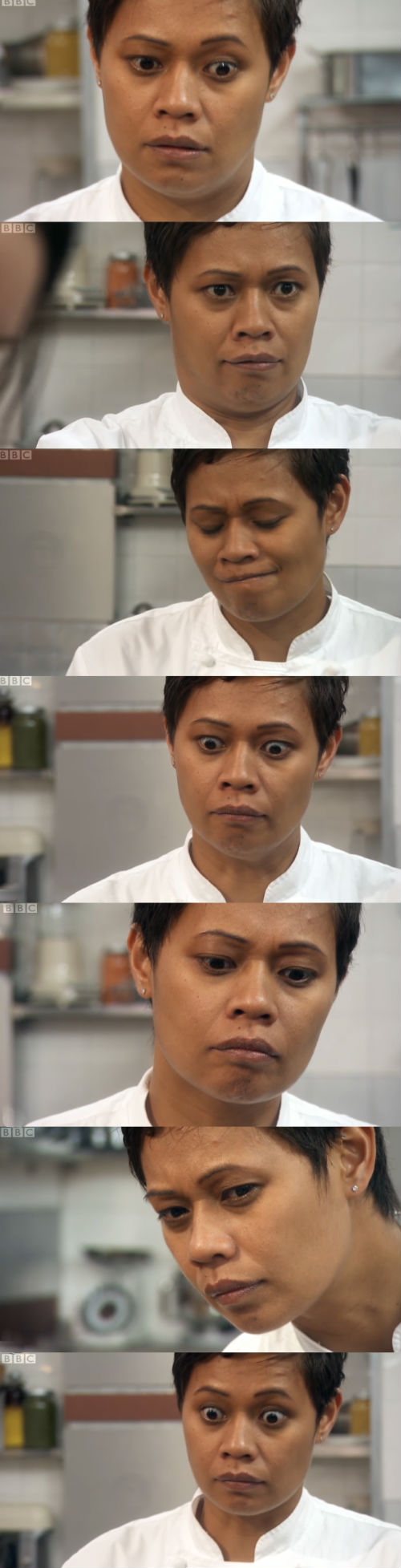 Monica Galetti's absurd reaction shots