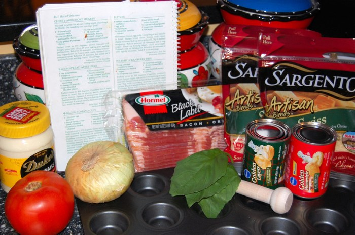 Bacon Tomato Cup ingredients