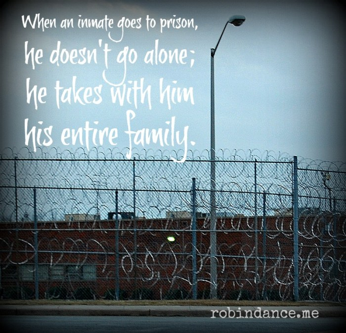 Prison Razor Wire - Quote about prison and family by Robin Dance
