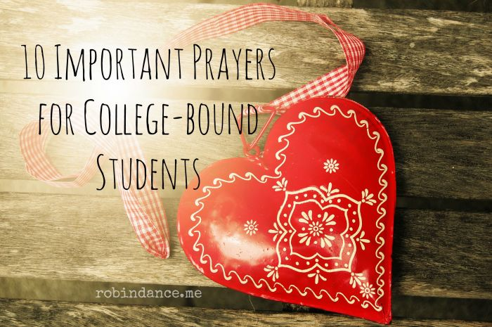 10 Important Prayers for College-bound Students