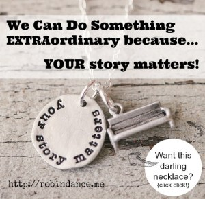 Your Story Matters Necklace - We Can Do Something Extraordinary Lyrics