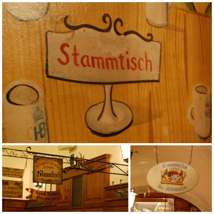The German tradition of Stammtisch at the Hofbräuhaus in Munich