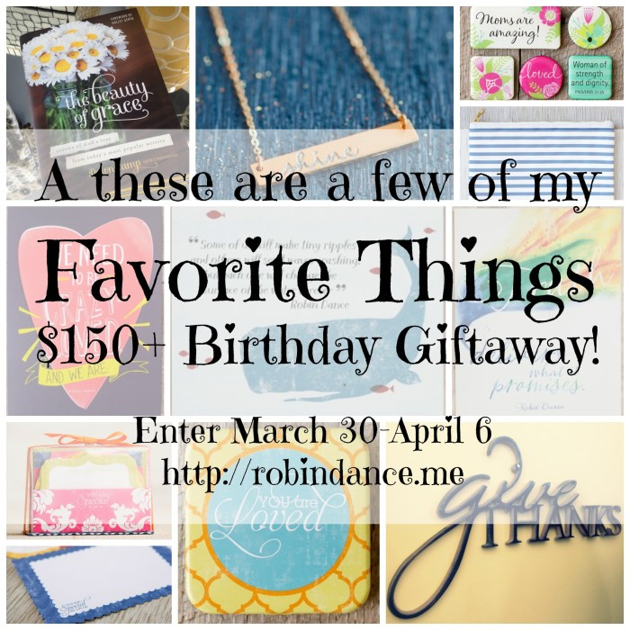 My Favorite Things Giveaway From DaySpring