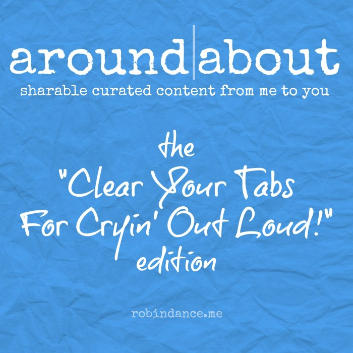 Around-About Content Curation by Robin Dance