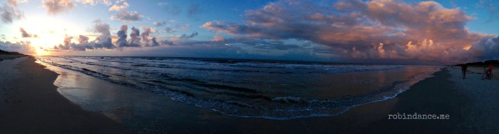 East to West at Sunrise on Hilton Head Island