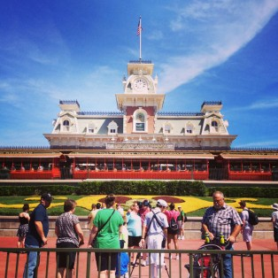 Walt Disney World Railroad is the first attraction to greet us as we entered Magic Kingdom. Allie captured it nicely as she instagrammed the start of our day.