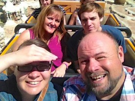 Group Selfie on Thunder Mountain Railroad!