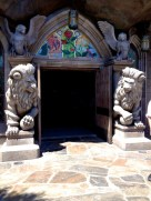 Sentries guard the entrance to the Beast's Castle and the restaurant within.