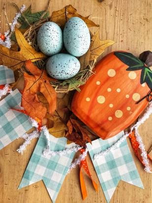 Nest and Pumpkin