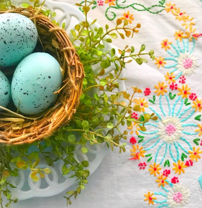 Spring green nest