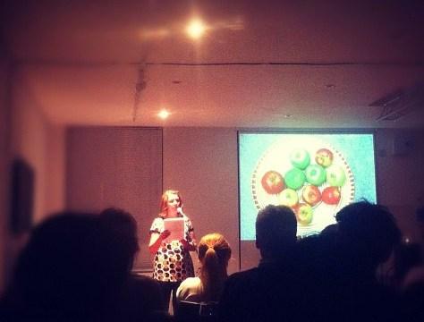Robin Houghton presenting at Pecha Kucha Night Brighton
