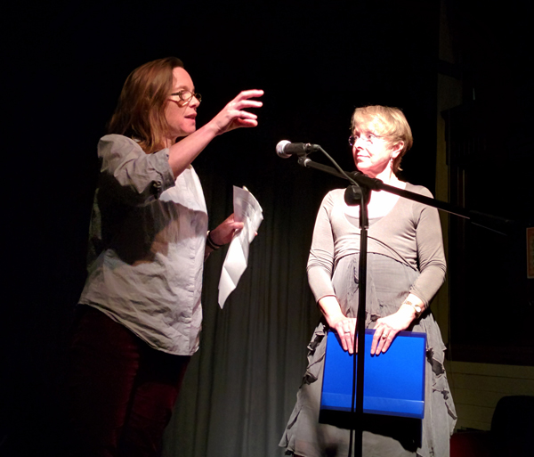 Michaela Ridgway & Clare Best at Pighog poetry night in Brighton