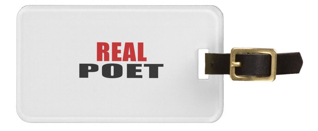 Real Poet luggage tag