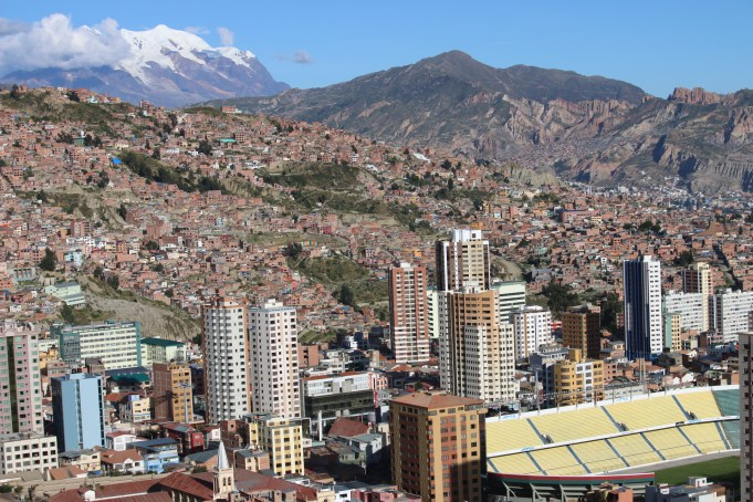 La Paz is a striking city