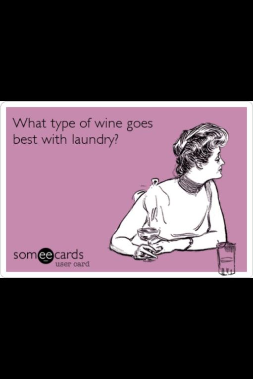 eCard Lady and Laundry