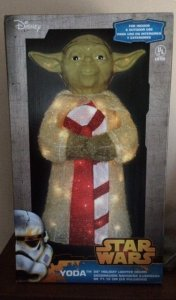 Yoda Christmas yard display