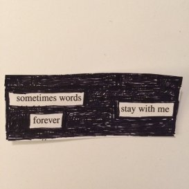 credit: RobinLK Studios Blackout Poetry, 2015