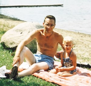 J. G. Gilbert & Robin Gilbert Luftig at Lake Lavine, MI, Summer 1958