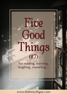 Five Good Things (#7): In which we talk about The Handmaid's Tale Takes to TV / Creative Writers Retreats / How Big is Your Vocabulary? / A Tiny House Village for Vets / Fantasy e-Book Reader Poll