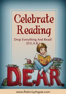 """DROP EVERYTHING AND READ has become """"a national month-long celebration of reading designed to remind folks of all ages to make reading a priority activity in their lives."""" You can participate by attending an event in your community, hosting one, or by reading at home with your children, siblings, or friends."""