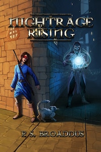 Nightrage Rising, by P.S. Broaddus, is the fantastical mystery-adventure of a young blind girl's struggle to escape a deadly anarchist cult