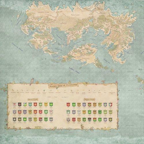 The World of Domhantyr, by Ilathar on the Cartographer's Guild