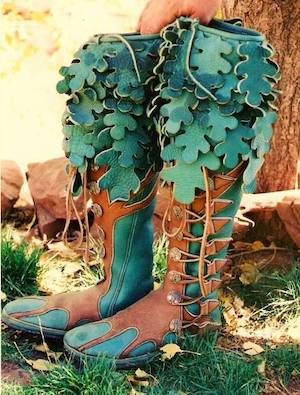 tree boots (they'll take you anywhere!)