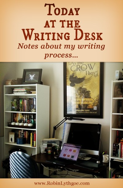 """How things at the writing desk go sometimes—Check out my PreWriting Journal entry: """"Brain dump"""" followed by talking to myself. I'm only a little bit crazy… [www.robinlythgoe.com]"""