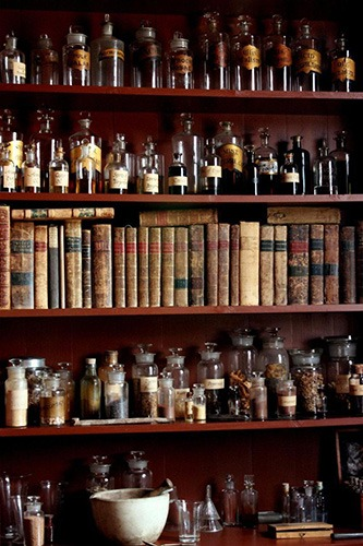 A Drift of Quills: Fiction Shots #10— It's quick fiction! Three different stories inspired by one picture. This round: an apothecary shelf full of antidotes… or poisons. We are not friends. Maybe it's safer that way?