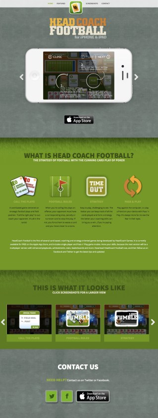 Head Coach Product Page