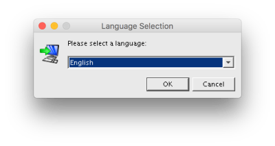 Install4j Language Selection Screen